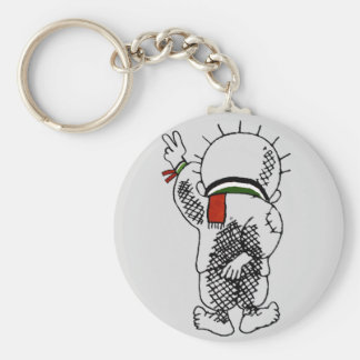 Handala (palestinsk unge) Keychain Rund Nyckelring