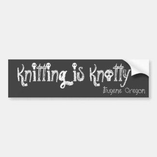 Handarbete är Knotty, Eugene Oregon Bildekal