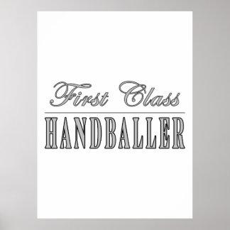 Handboll och Handballers: Klassificera först Handb Poster