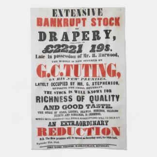 handduk för 1840sHandbill-stil Tea Kökshandduk