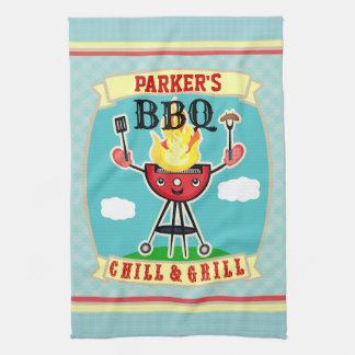 Handduk för BBQ för grillfest för Kökshandduk