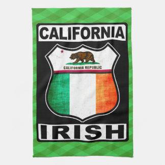 Handduk för Kalifornien irländsk amerikanTea Kökshandduk