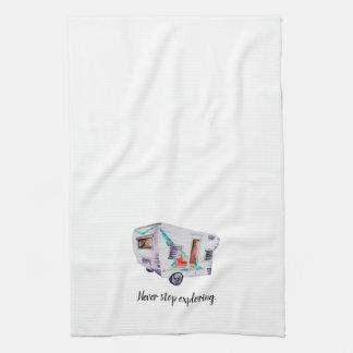 Handduk för maträtt för kök för campare för kökshandduk