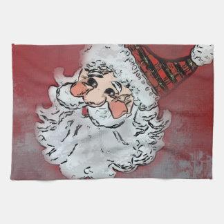 Handduk för Santa ansiktejul Kökshandduk