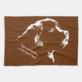 Handduk för Tea för hund för Newfoundland Kökshandduk