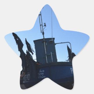 Handel för skaldjurfartygmässa stjärnformat klistermärke