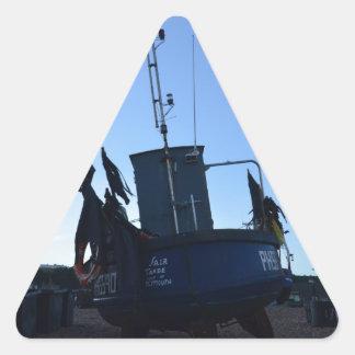 Handel för skaldjurfartygmässa triangelformat klistermärke