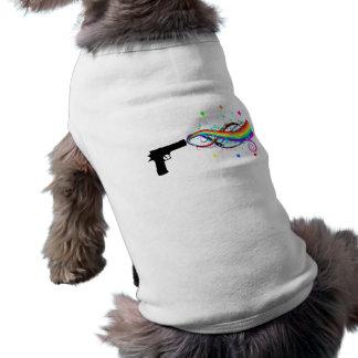 Handeldvapenskyttestjärnor & regnbågar husdjurströja