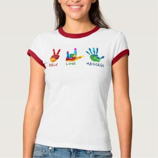 Händer för fredkärlekmassage - Tiefärg T Shirt