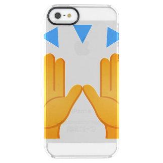 Händer lyftte Emoji Clear iPhone SE/5/5s Skal