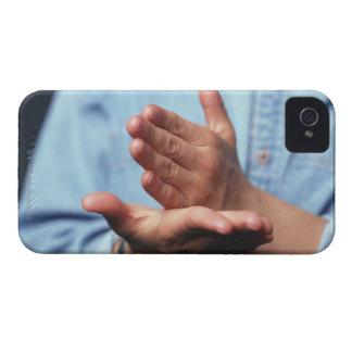 Händerdanandegest: man räcker på - rymd raksträcka iPhone 4 Case-Mate fodral