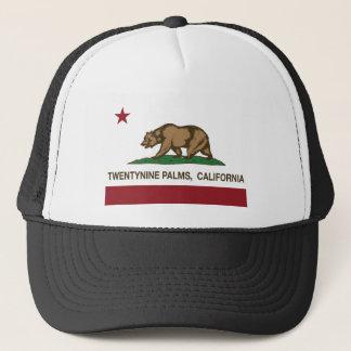 Handflatan för Kalifornien statlig flagga Truckerkeps