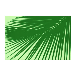 Handflatanlöv - smaragd- och limefruktgrönt canvastryck