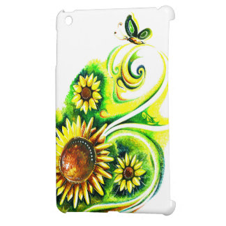 Handgjord abstrakt målning av solrosen iPad mini skydd