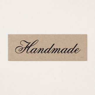 Handgjord elegant vintagebruntkraft visitkort