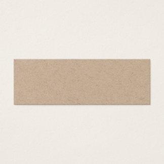 Handgjord minimalist elegant kraft visitkort