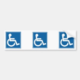 Handikappet undertecknar bildekal
