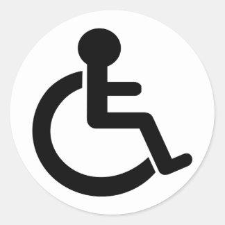 Handikapphandikappade personersymbol runt klistermärke