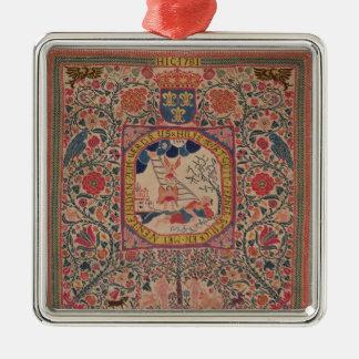 Handknitted mattar att visa Jacob dröm, Alsace Julgransprydnad Metall