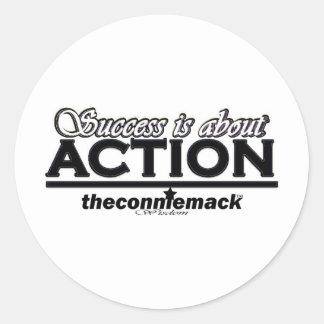 handling runt klistermärke