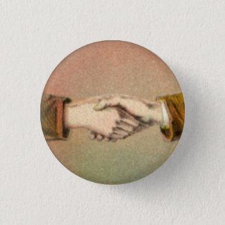 Handskakning 1 flytta sig mycket långsamt rundan mini knapp rund 3.2 cm