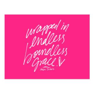 Handskriven bokstäver för inspirera vykort