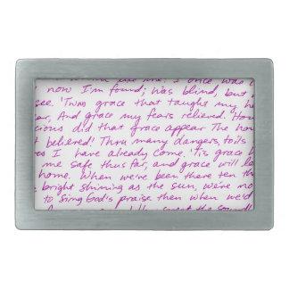 Handskrivna lyrisk dikt för fantastisk nåd