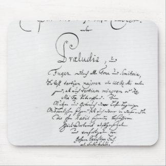 Handskrivna Titlepage av den blandade brunnen Musmatta