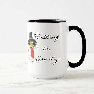 Handstil är Sanity -- Författare mugg