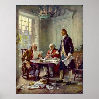 Handstil förklaringen av självständighet Ferris Poster