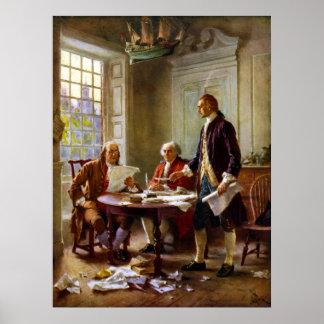 Handstil förklaringen av självständighet poster