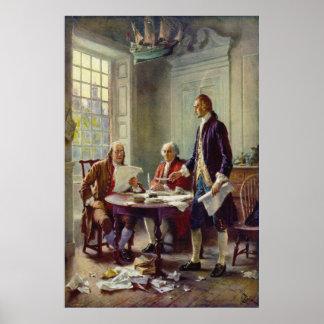 Handstil förklaringen av självständighet vid poster