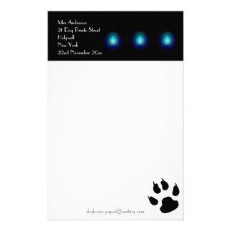 Handstilpapper för hund älskare brevpapper