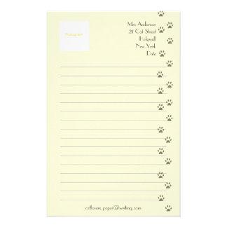 Handstilpapper för kattälskare brevpapper