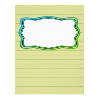Handstilpapper med bilden boxas brevhuvud