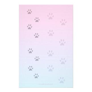 Handstilpapper med kattfotspår brevpapper