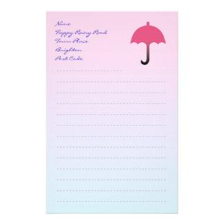 Handstilpapper med paraplyet brevpapper