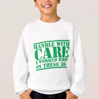 HANDTAG MED OMSORG som jag fungerade hårt på dessa T Shirts