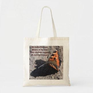 Handväskan alla fjärilar vilar dikt vid den Ladee  Tygkasse