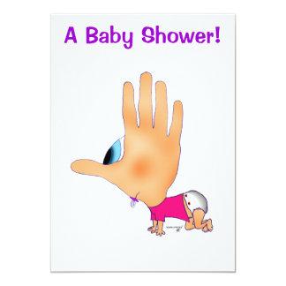 HANDzYMANS baby showerinbjudningar 12,7 X 17,8 Cm Inbjudningskort