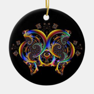 Hänförd fjärilsprydnad julgransprydnad keramik