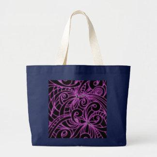 Hänga lös abstrakt bakgrund för blommigten jumbo tygkasse