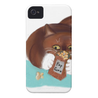 Hänga lös av Popcorn för mus och kattunge iPhone 4 Skydd