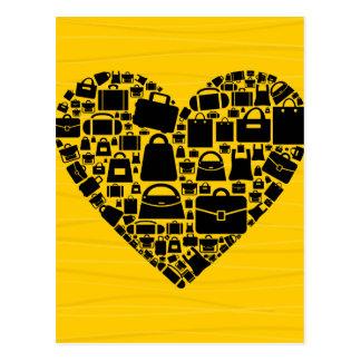 Hänga lös hjärta vykort