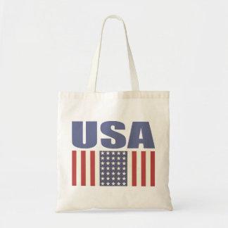 Hänga lös med det kalla USA flaggatrycket Budget Tygkasse