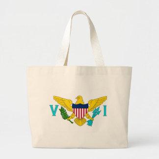 Hänga lös med flagga av jungfruliga Öar USA Tote Bags