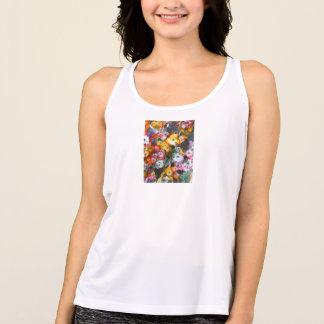 Hängande blommigt t shirt