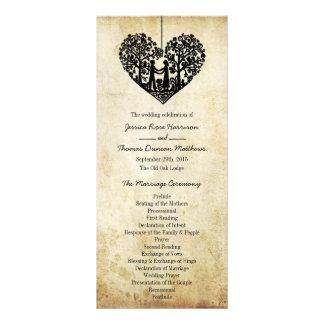 Hängande program för hjärtaträdvintage bröllop