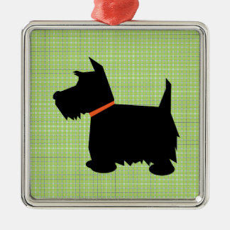 Hängande prydnad för skotsk Terrierhundsilhouette Julgransprydnad Metall