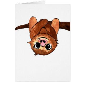 Hängande sloth hälsningskort